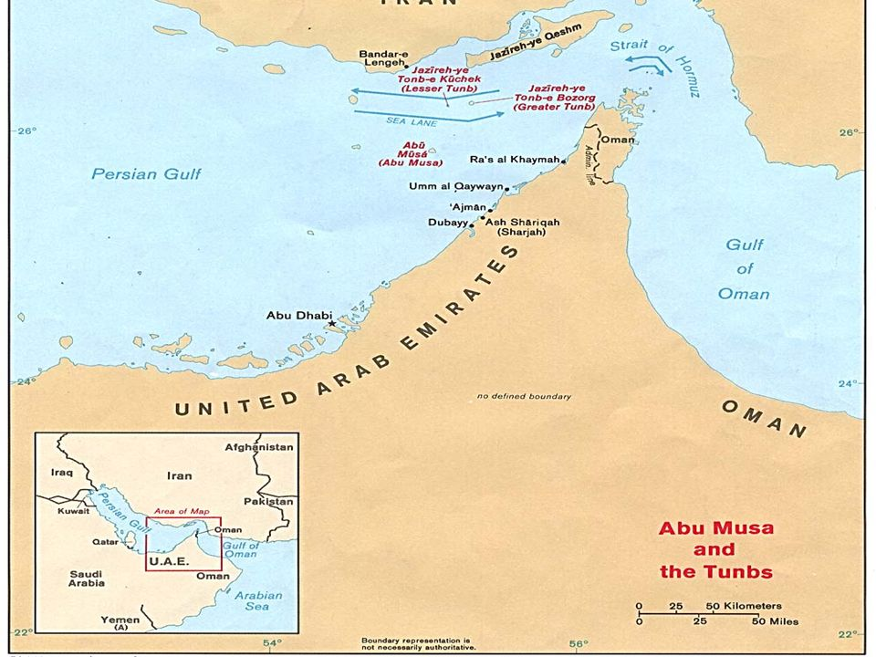 In September of 1980 Saddam declared Shatt al-Arab totally Iraqi and totally Arab and invaded Iran. He further claimed that 3 Islands in the Persian G