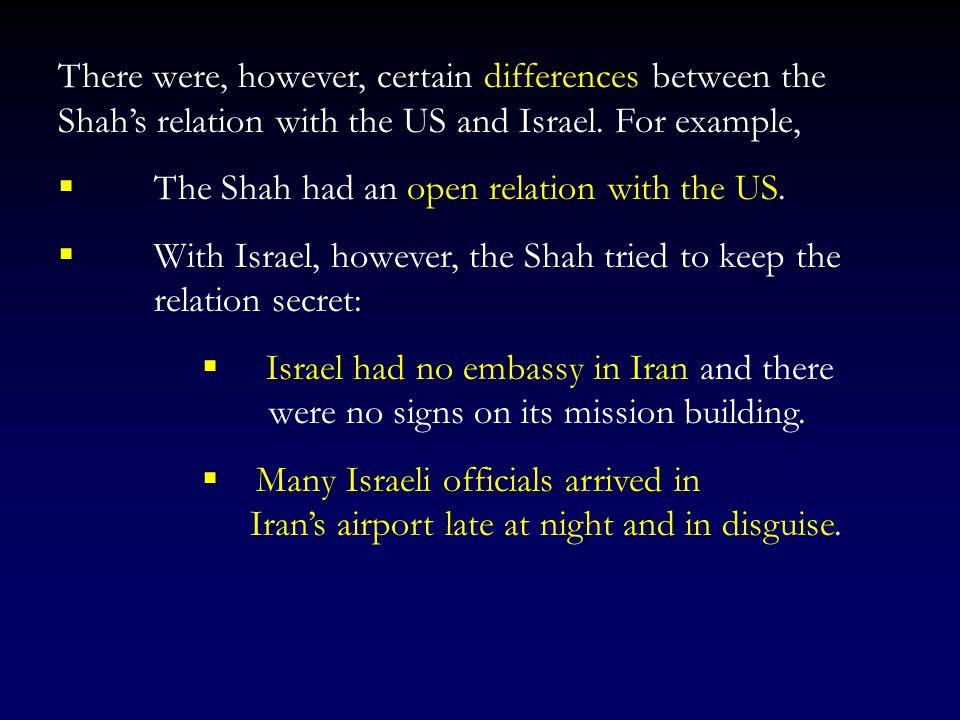 Indeed, the last representative of Israel to Iran (1978), Uri Lubrani, was the former head of Israeli security service Shin Bet. (See Samuel Segev, 19