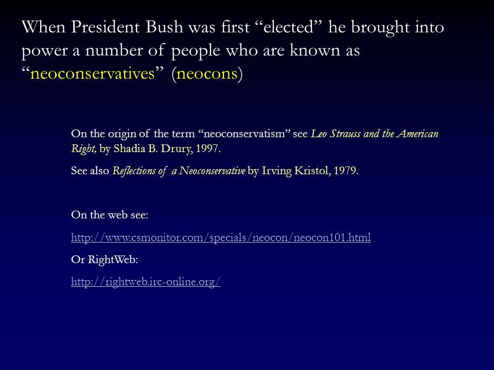 The Bush Years