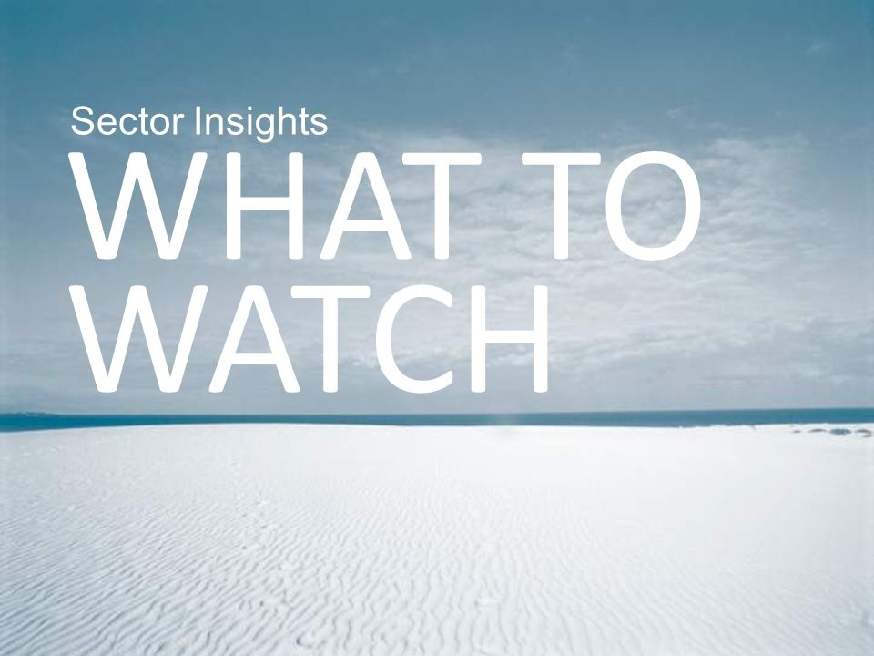 Sector Insights WHAT TO WATCH