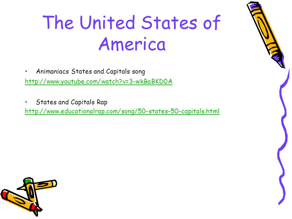 The United States of America Animaniacs States and Capitals song   v=3-wkBaBKD0A States and Capitals Rap