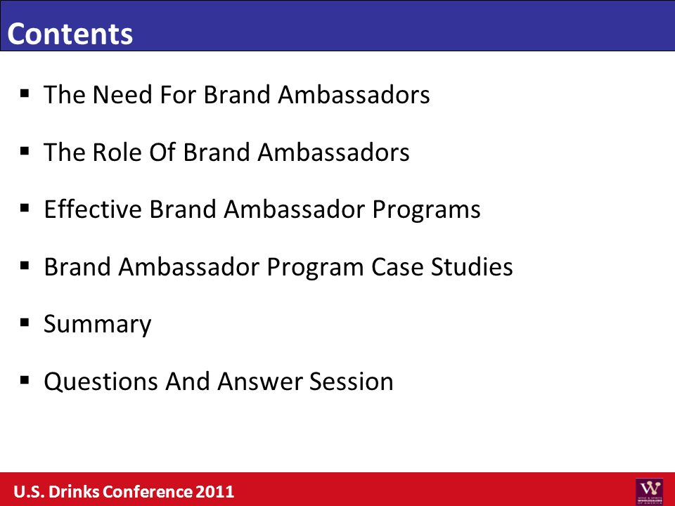 The Need For Brand Ambassadors The Role Of Brand Ambassadors Effective Brand Ambassador Programs Brand Ambassador Program Case Studies Summary Questio