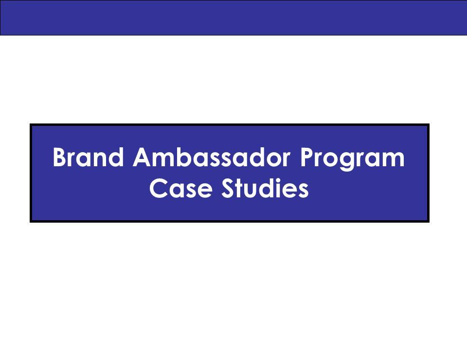 Brand Ambassador Program Case Studies