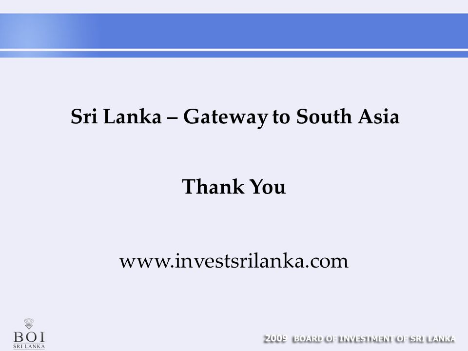 Thank You Sri Lanka – Gateway to South Asia