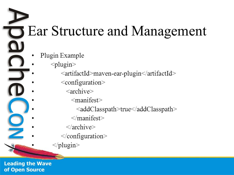 Ear Structure and Management Plugin Example maven-ear-plugin true