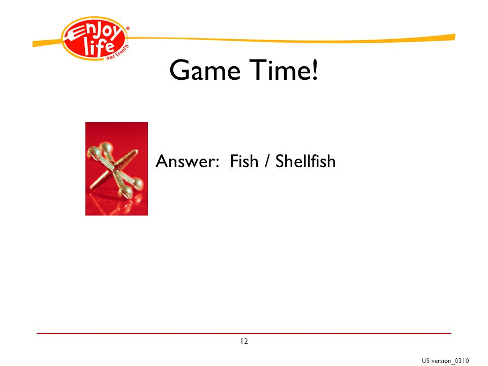 US version_ Game Time! Answer: Fish / Shellfish
