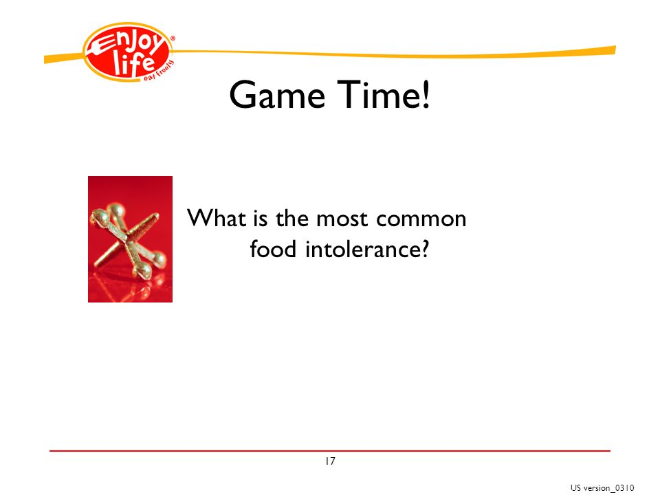 US version_ Game Time! What is the most common food intolerance