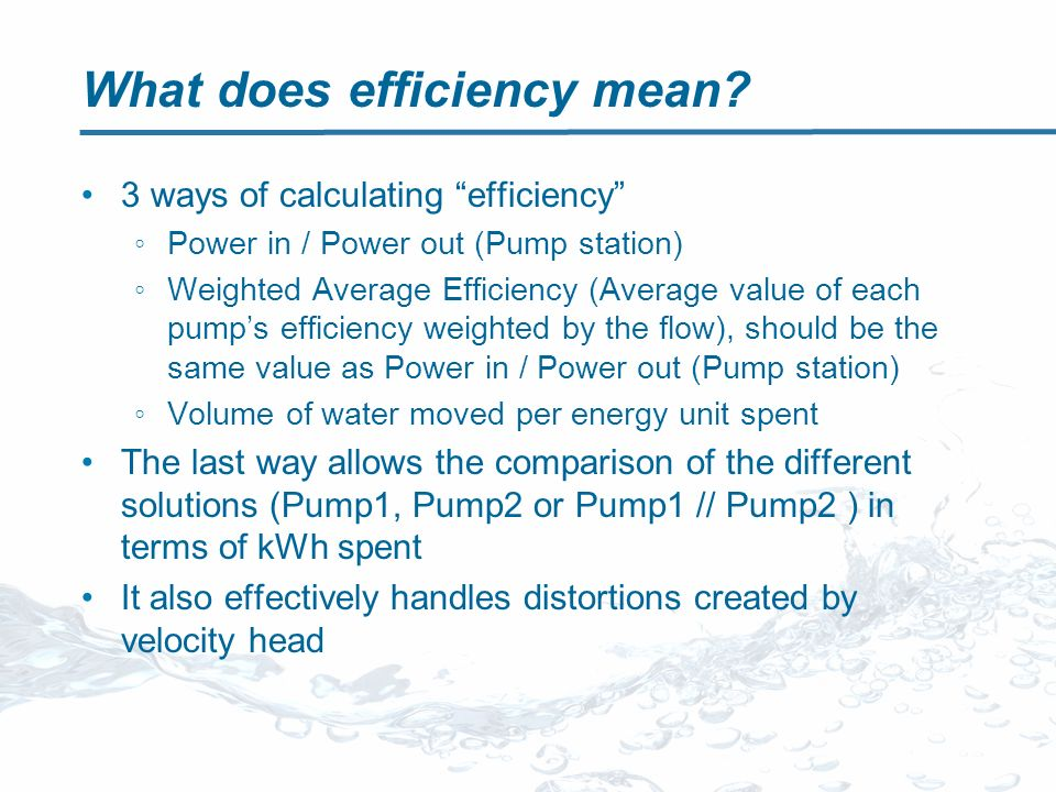 What does efficiency mean.