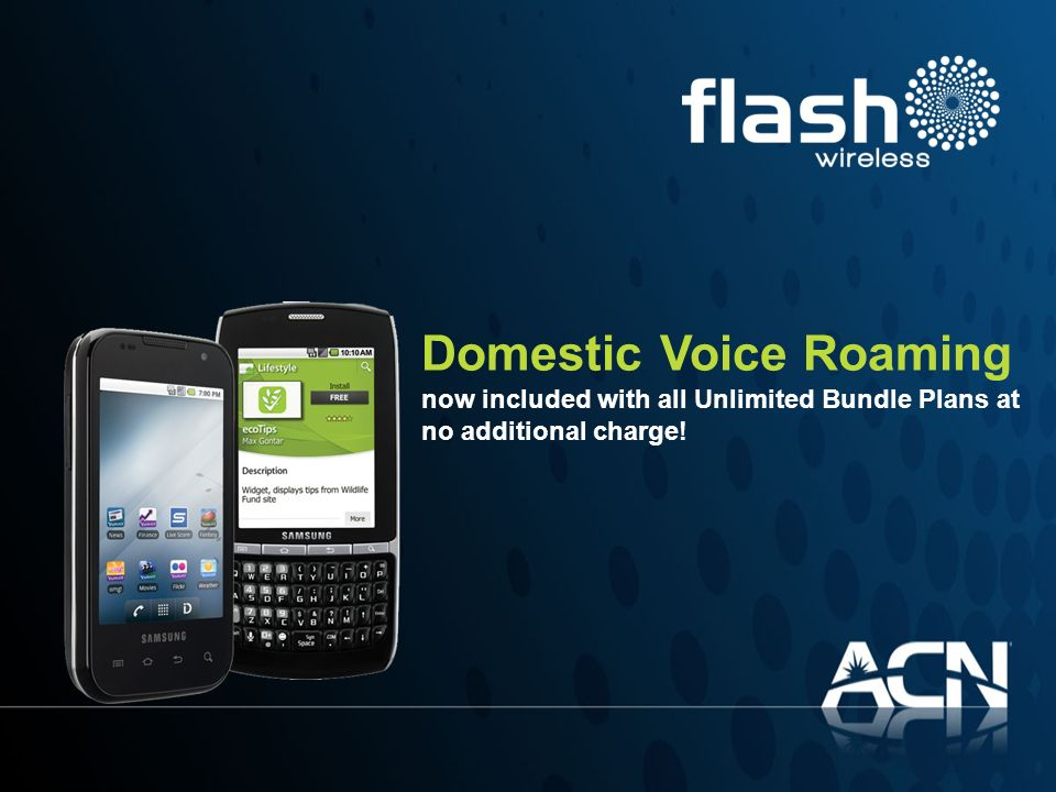 Domestic Voice Roaming now included with all Unlimited Bundle Plans at no additional charge!