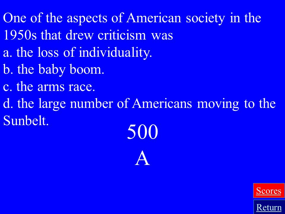 400 B What may have contributed to televisions popularity in the 1950s? a. Political candidates used it to communicate their messages. b. After years