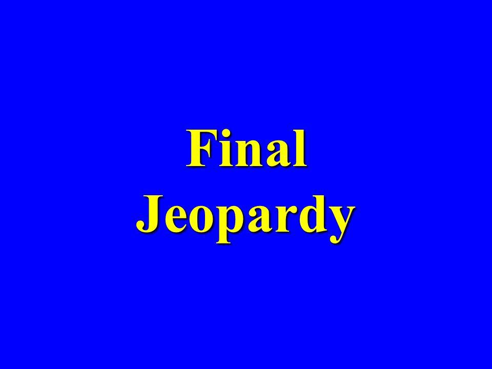 JEOPARDY 100 200 300 400 500 Scores RooseveltPolicies Totalitarianism German Invasion PostwarPostwar and Challenge