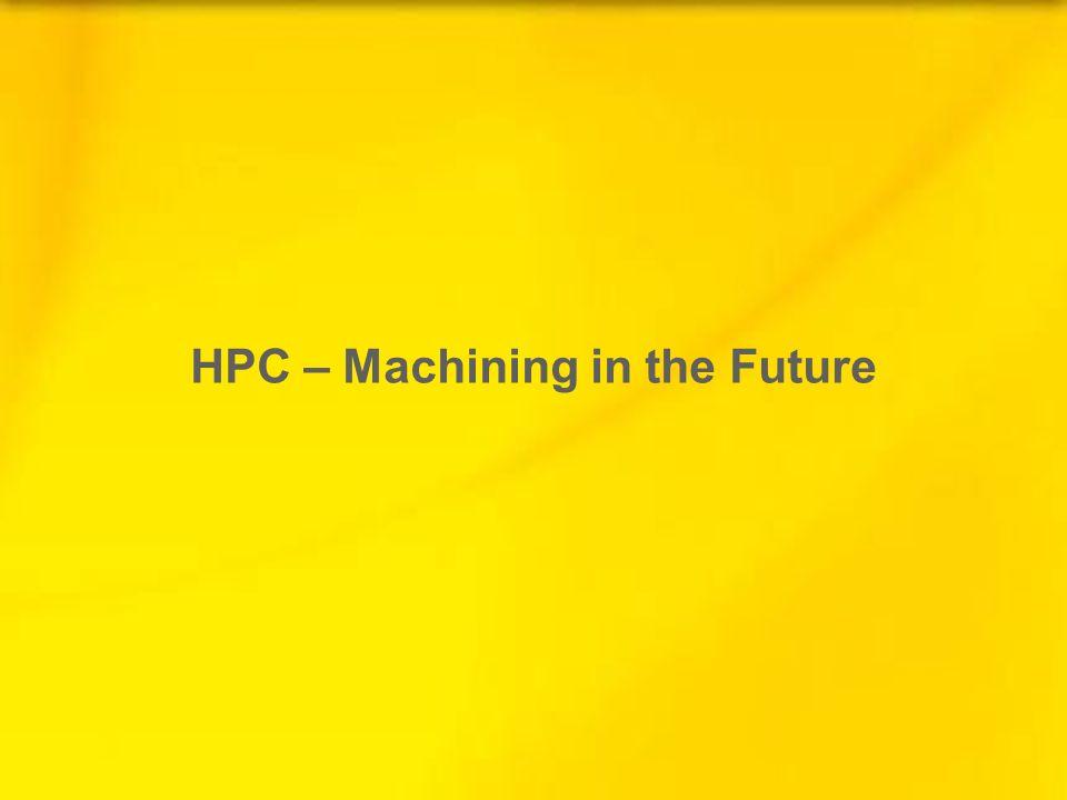 HPC – Machining in the Future