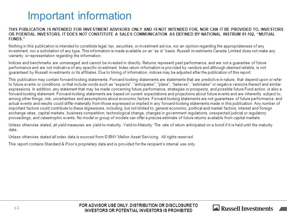 DEX Indices: Source: PC-Bond, a business unit of TSX Inc.
