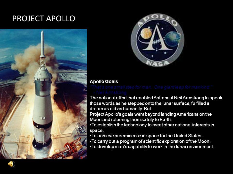 PROJECT APOLLO Apollo Goals