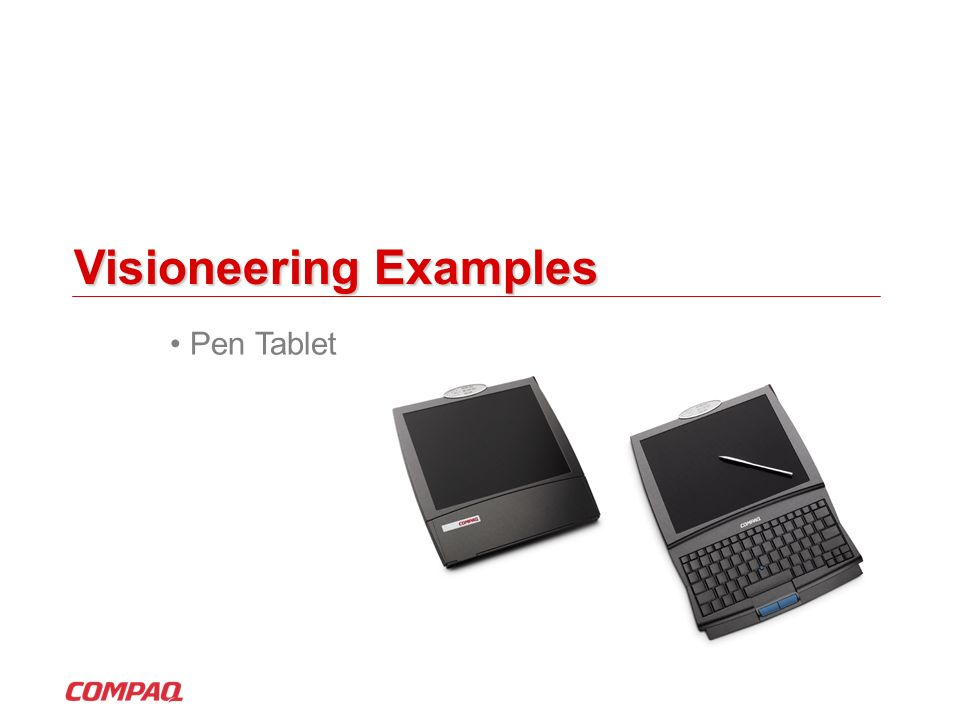 Visioneering Examples Pen Tablet