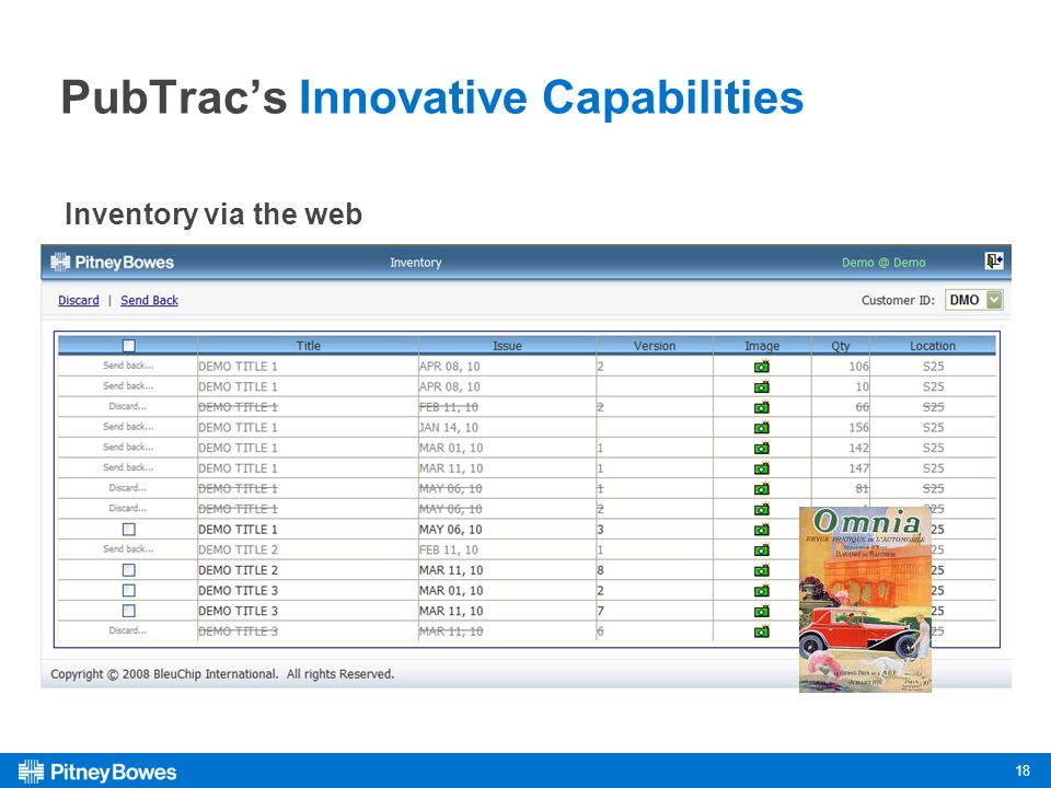 18 PubTracs Innovative Capabilities Inventory via the web
