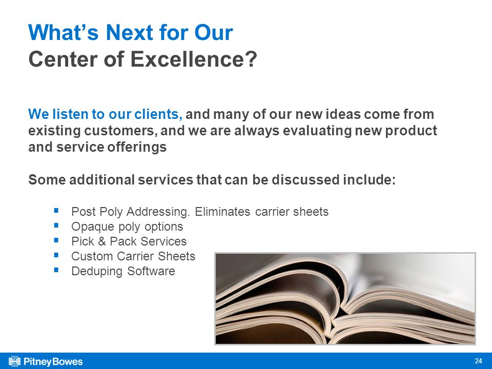 24 Whats Next for Our Center of Excellence.
