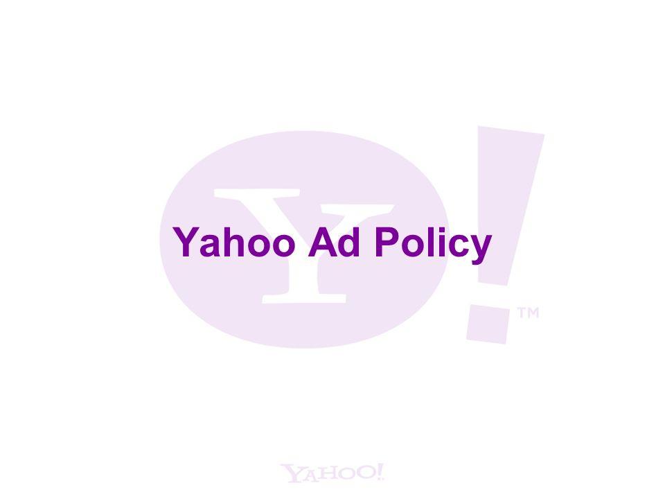 Yahoo Ad Policy