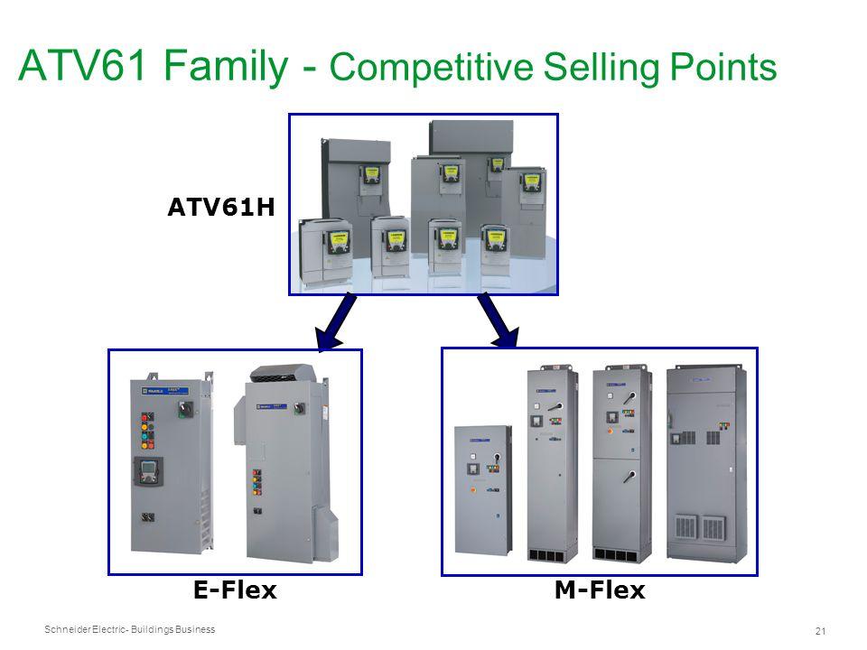 Schneider Electric 21 - Buildings Business ATV61H ATV61 Family - Competitive Selling Points E-Flex M-Flex