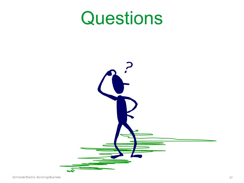 Schneider Electric 37 - Buildings Business Questions