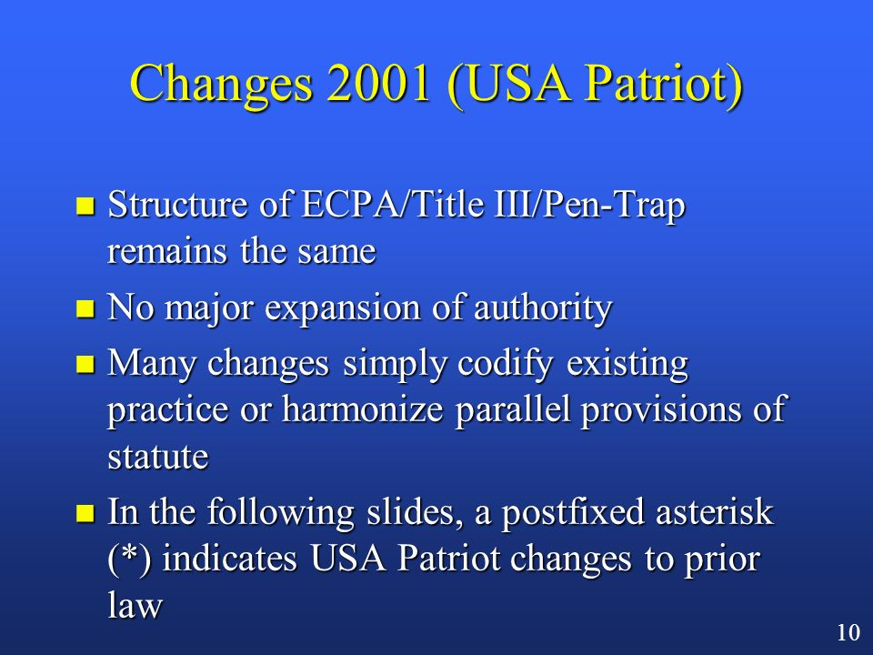 9 Sweeping New Surveillance Powers Under USA Patriot Act: A List