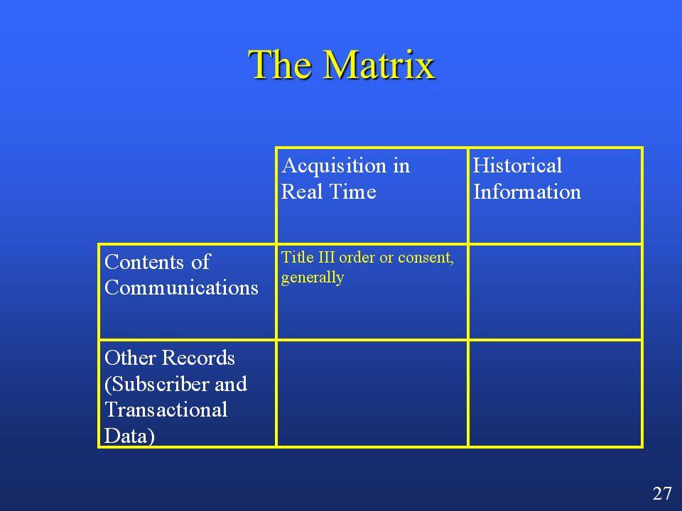 26 The Matrix