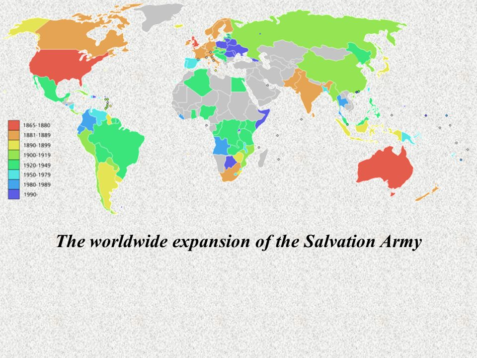 The worldwide expansion of the Salvation Army