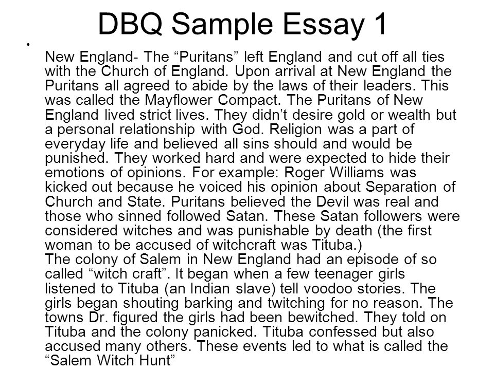 Dbq essay example global history