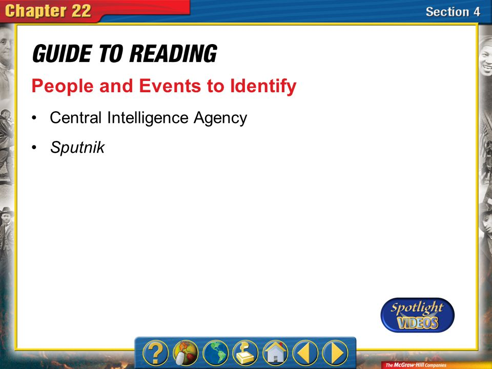 Section 4-Key Terms People and Events to Identify Central Intelligence Agency Sputnik
