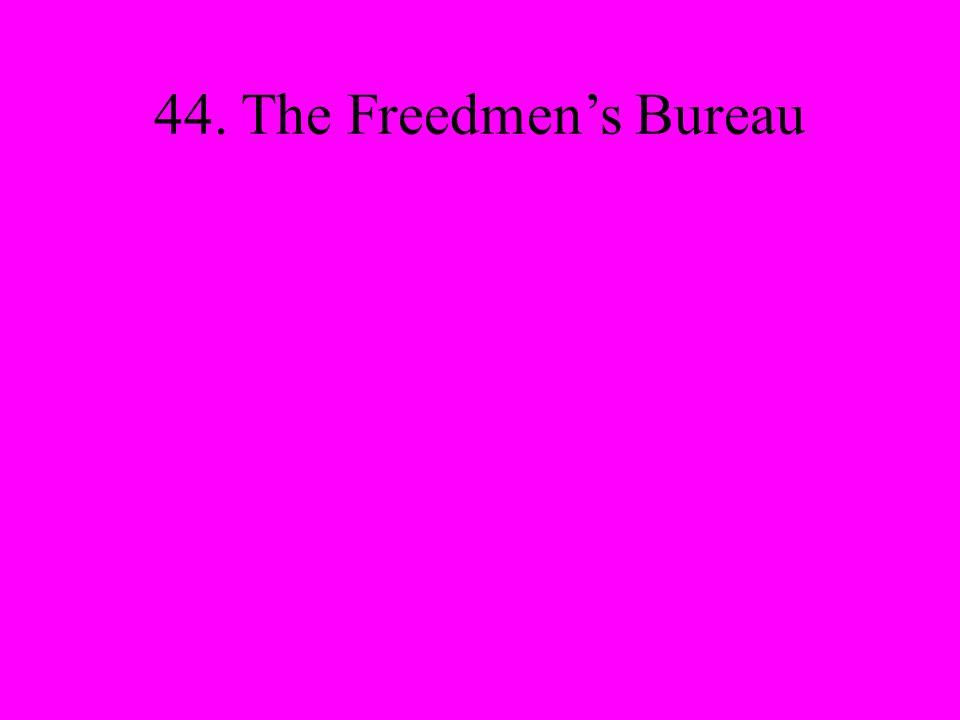 44. The Freedmens Bureau