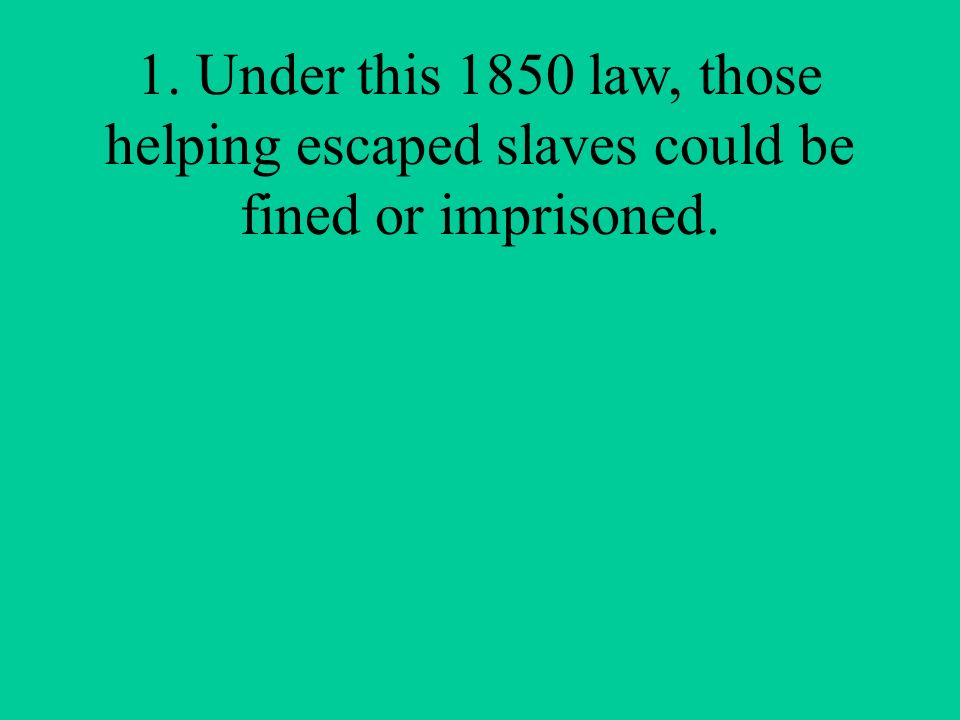 Unit 3 – U. S. History Disunion, Civil War, and Reunion Jeopardy Review