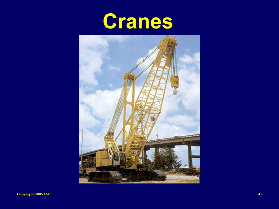 Copyright 2005 USC45 Cranes