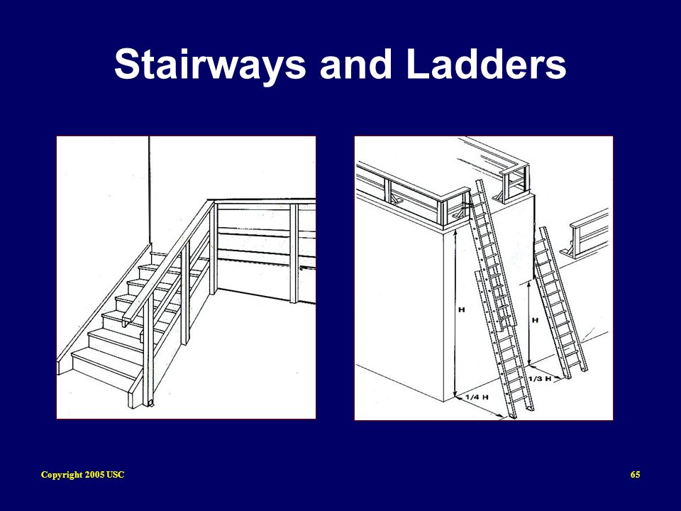 Copyright 2005 USC65 Stairways and Ladders