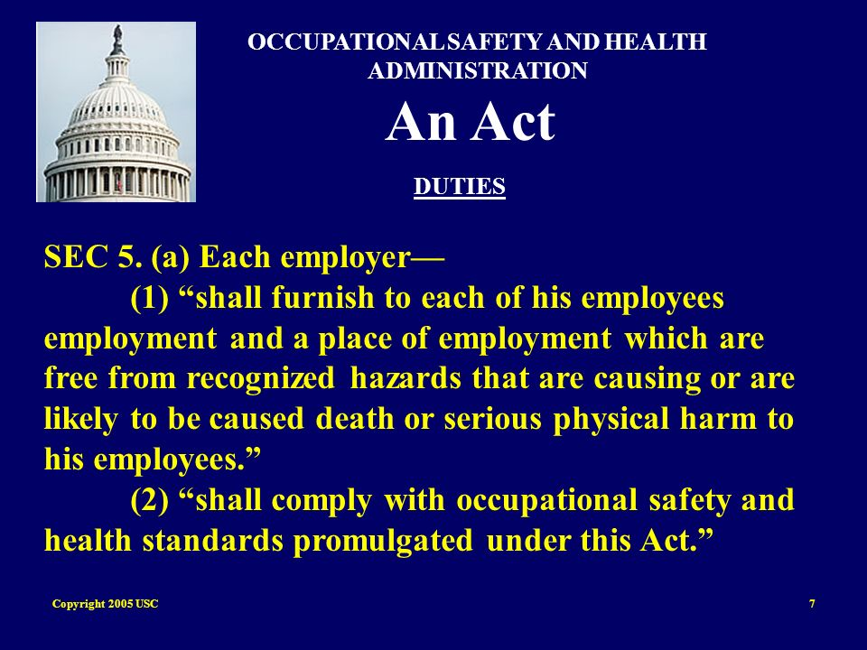 Copyright 2005 USC28 Subpart C General Safety and Health Provisions 1926.31 Incorporation by reference 1926.31(a) The standards of agencies of the U.S.