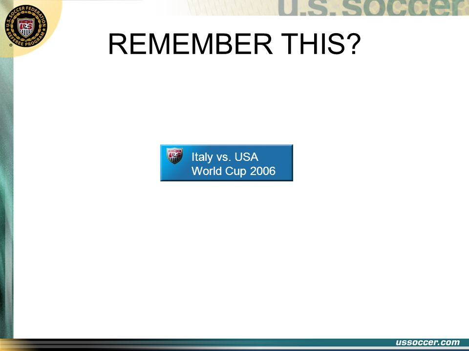 REMEMBER THIS? Italy vs. USA World Cup 2006