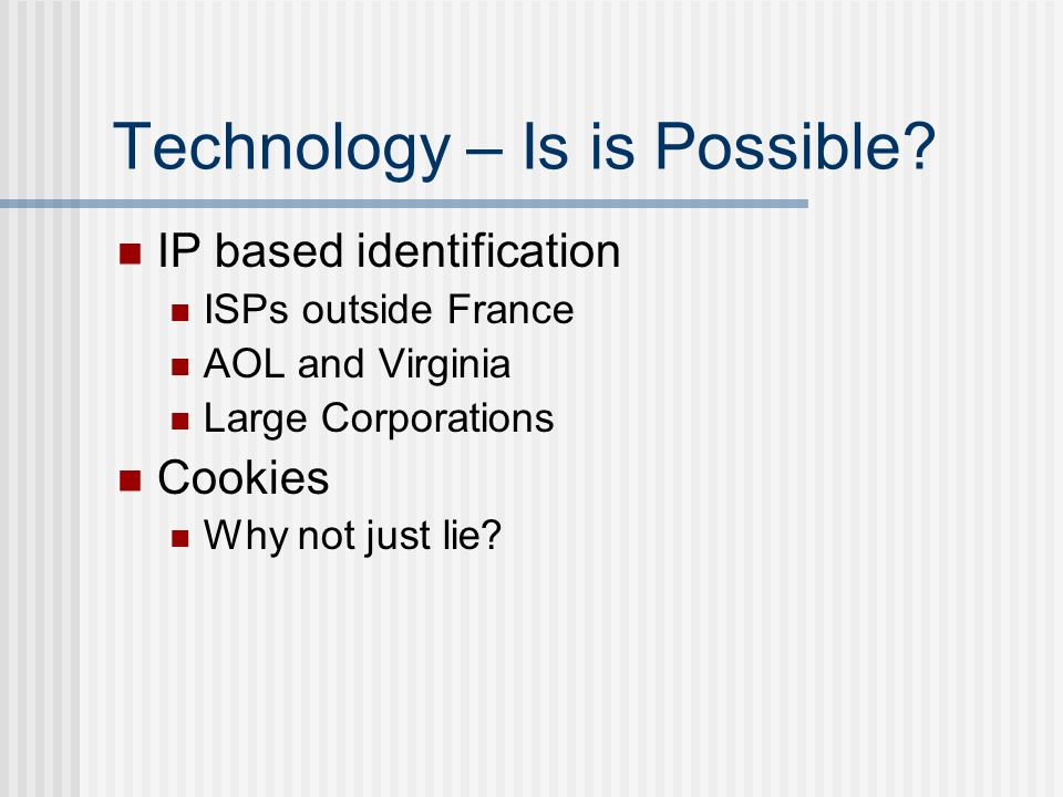 Technology – Is is Possible.