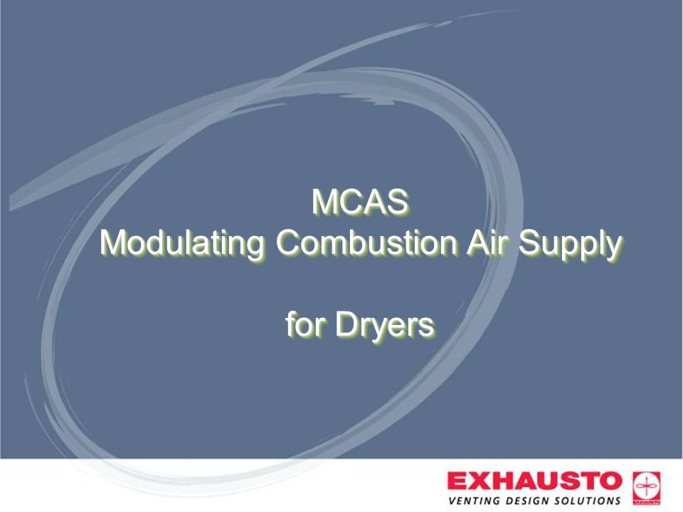 MCAS Modulating Combustion Air Supply for Dryers