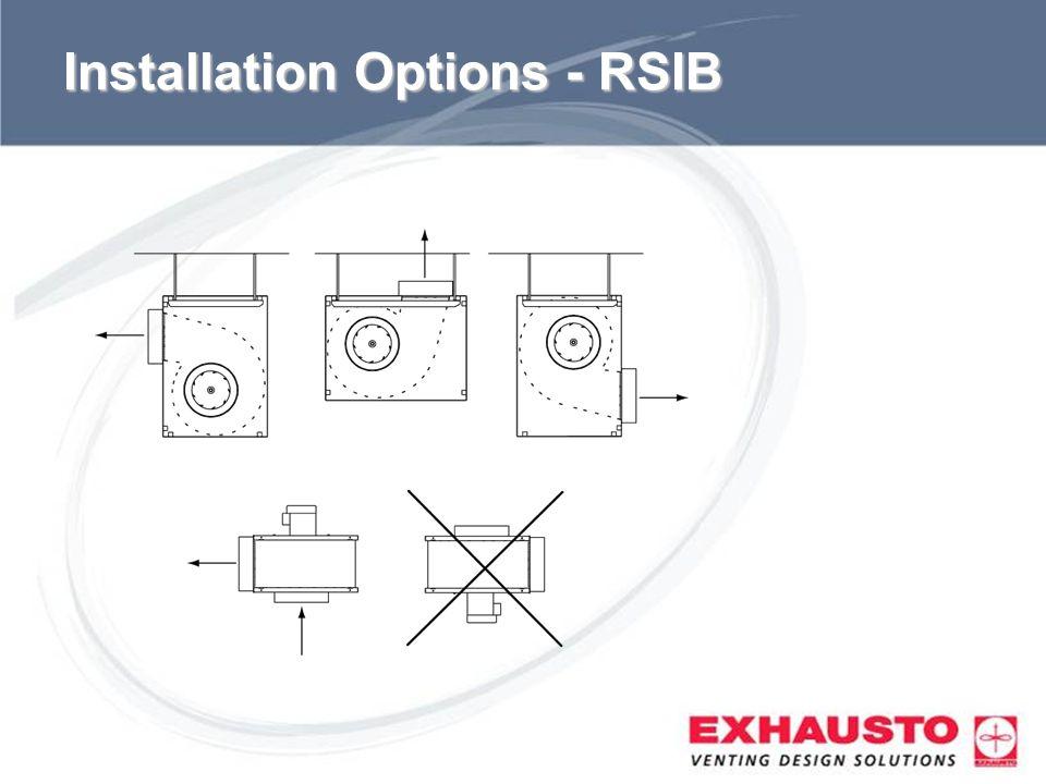 Sub Title Installation Options - RSIB