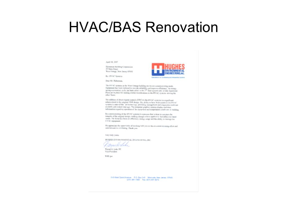HVAC/BAS Renovation