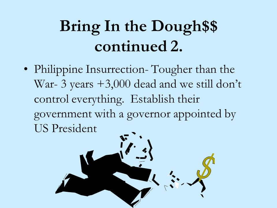 Bring In the Dough$$ continued. Guam- No Problem- it just a stopover for US Ships Cuba- We tried to help you, but I guess well just take you over. Pla