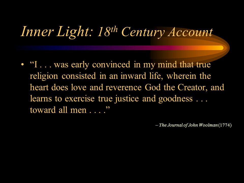 Inner Light: 18 th Century Account I...