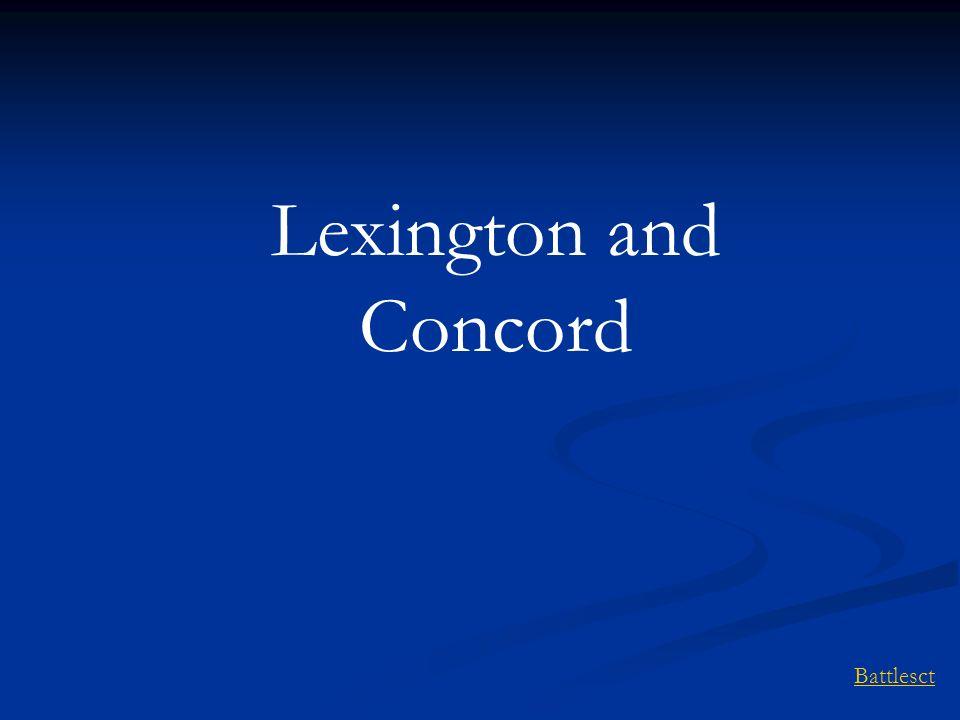 Battlesct Lexington and Concord