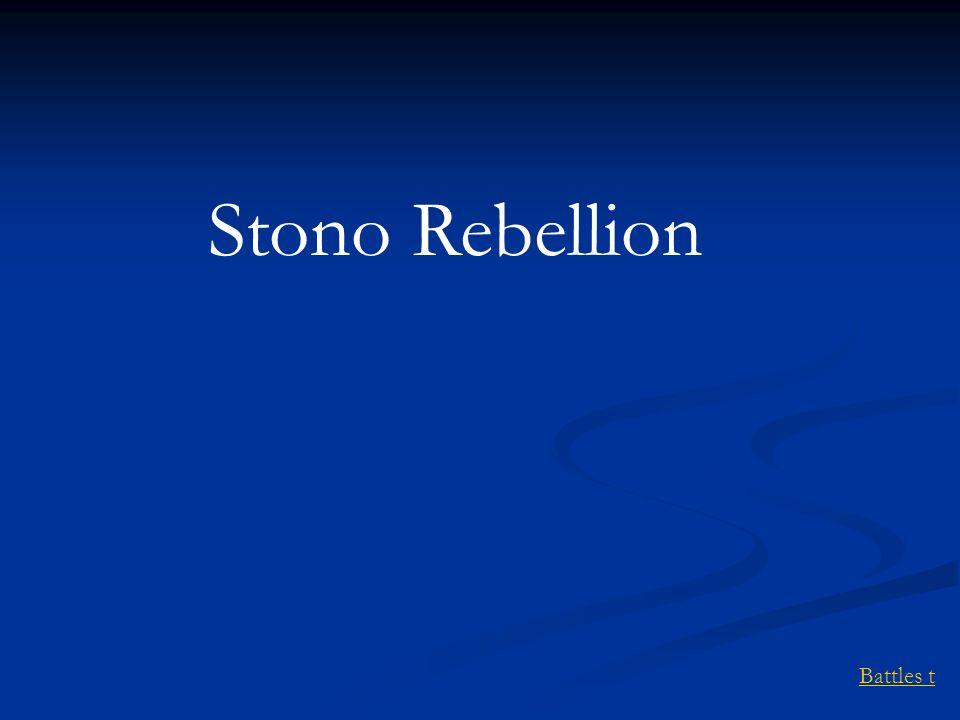 Battles t Stono Rebellion
