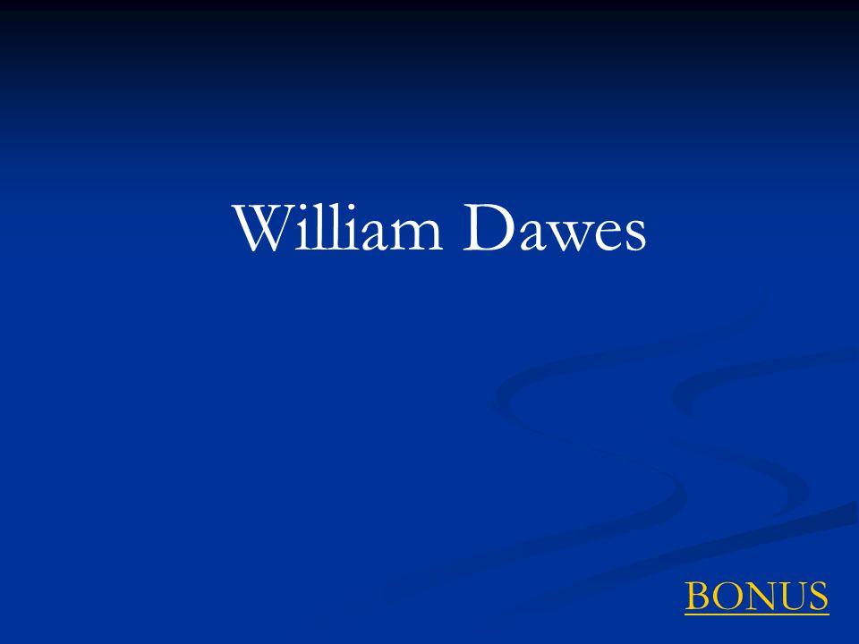 William Dawes BONUS