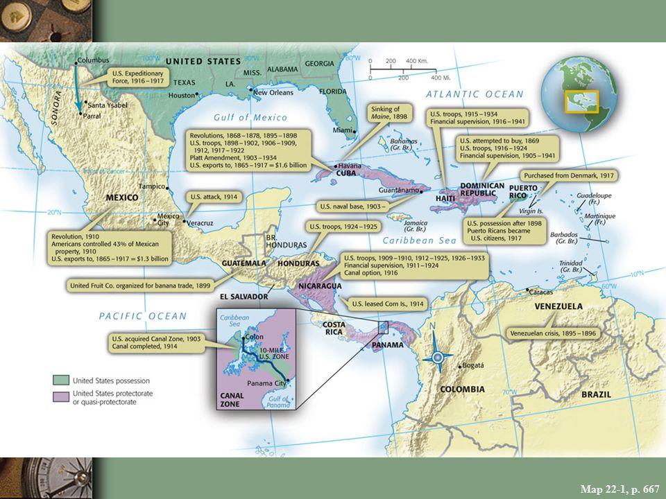 Map 22-1, p. 667