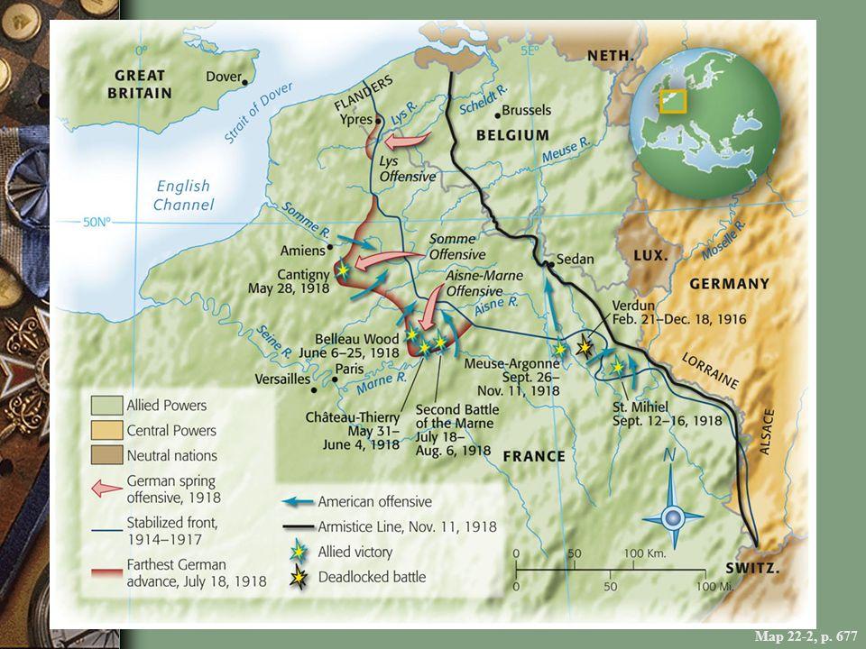 Map 22-2, p. 677