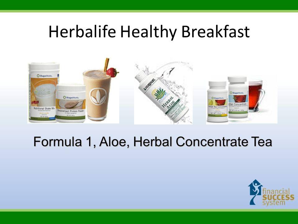 Herbalife Healthy Breakfast Formula 1, Aloe, Herbal Concentrate Tea