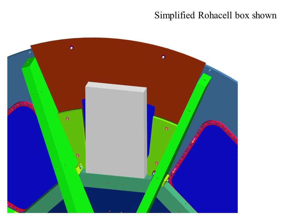 Simplified Rohacell box shown