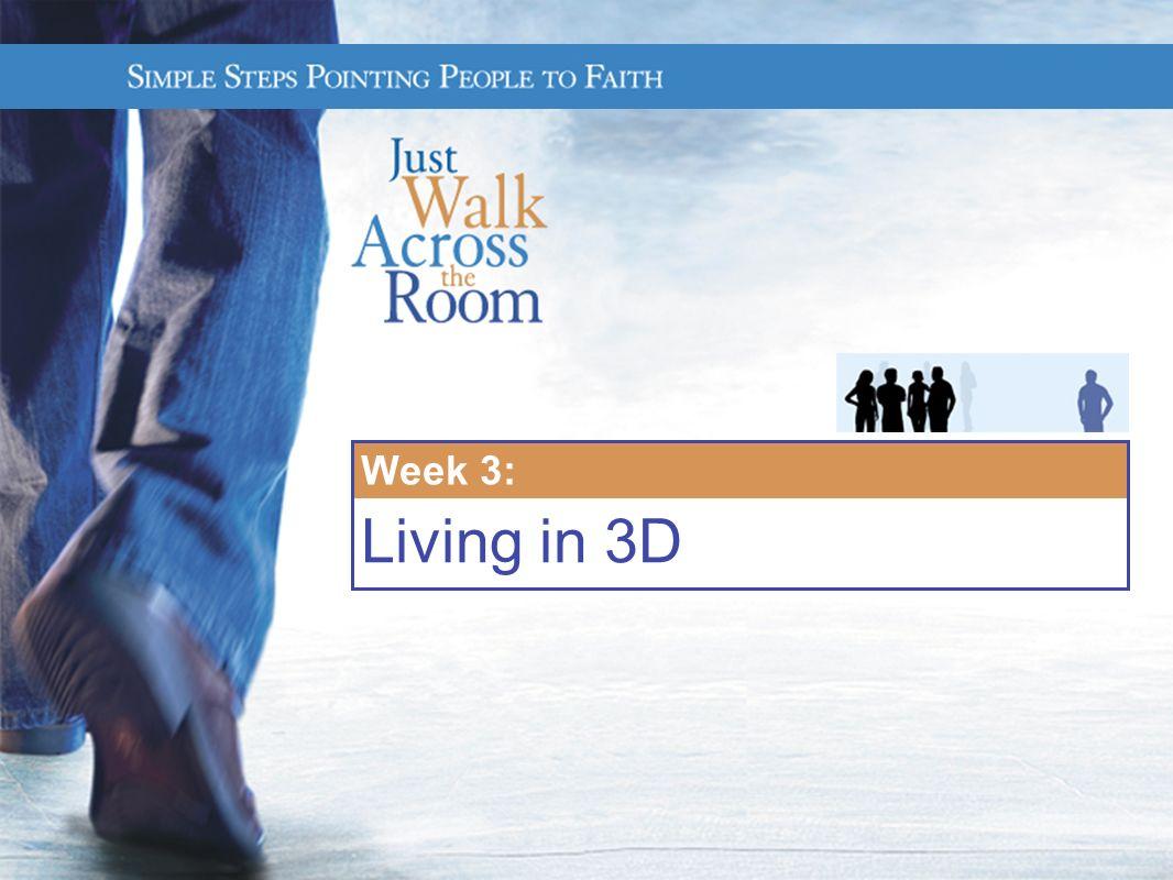 Week 3: Living in 3D