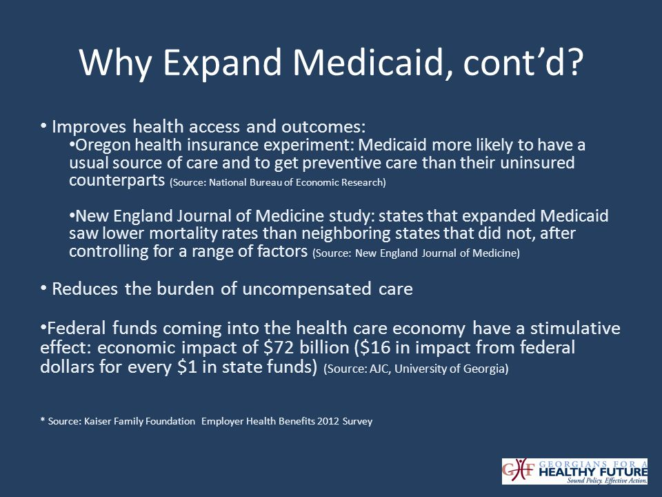 Who would be newly eligible for Medicaid.